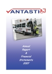 Annual Report Vantastic 2007